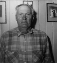 Portrett av Ole Amundsen (1879-1958) - anleggs- og gruvearbe