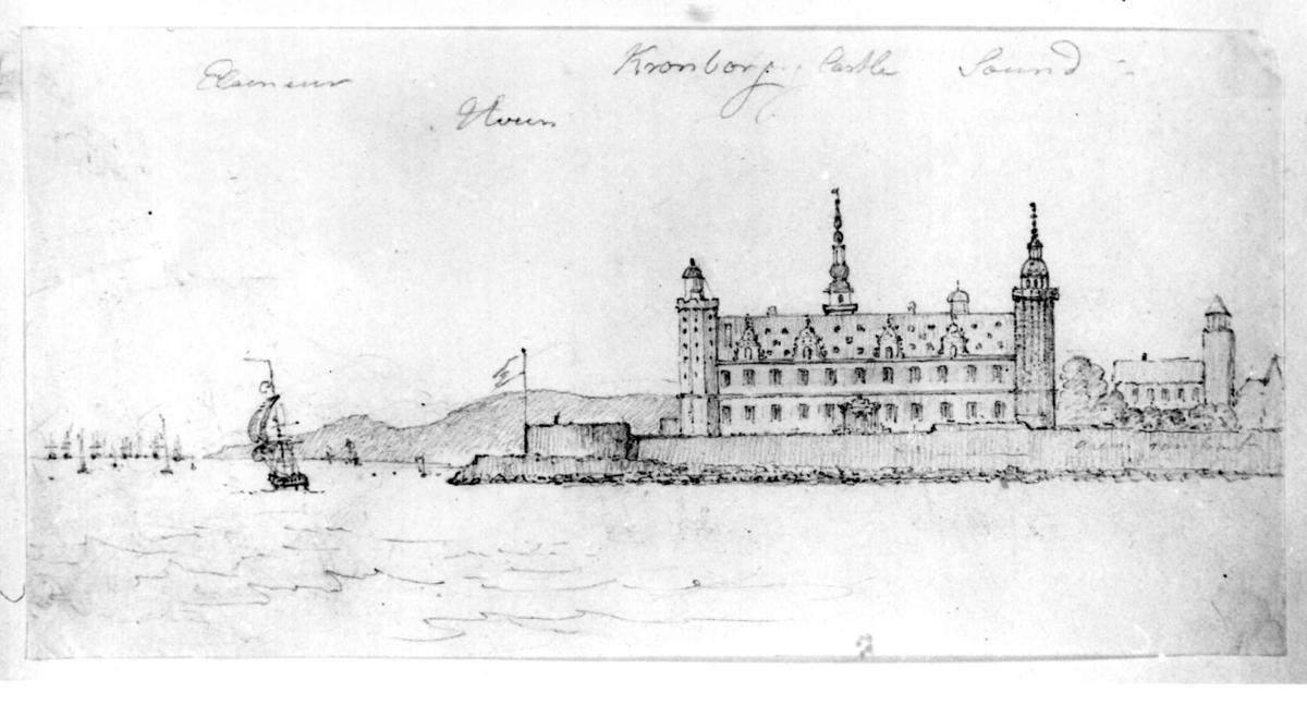 "HelsingørFra skissealbum av John W. Edy, ""Drawings Norway 1800""."
