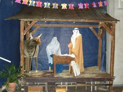 1. juledag i Tonsen kirke, Oslo. 25.12.2007. Julekrybbe i ki