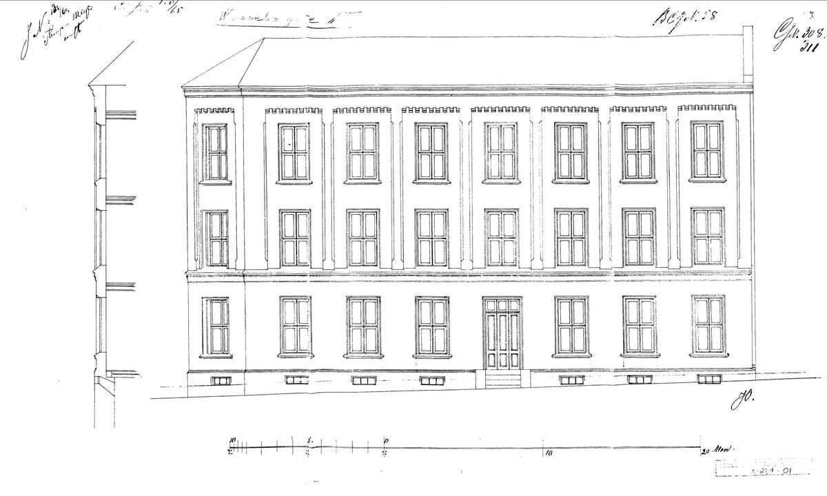 Leiegård fra Wessels gate 15, Meyerløkka, Oslo