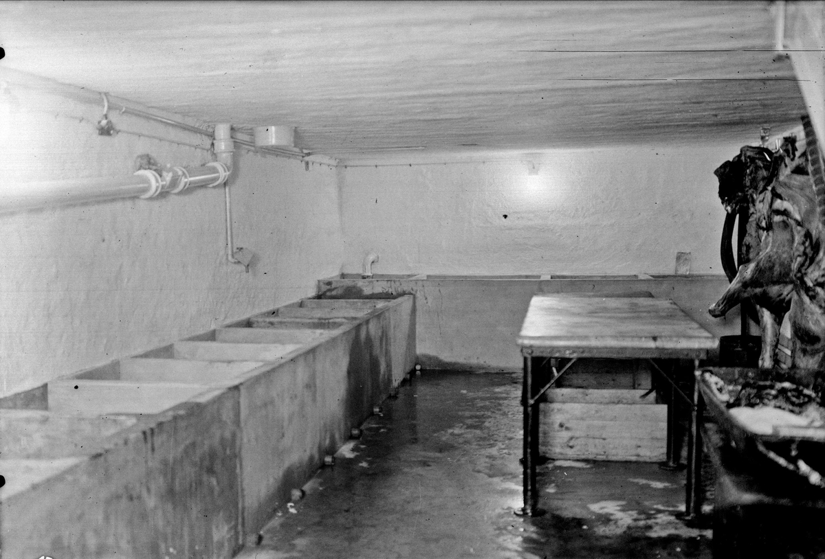 Lars Charkuteri, Uppsala 1934 - slaktrummet i fabriken