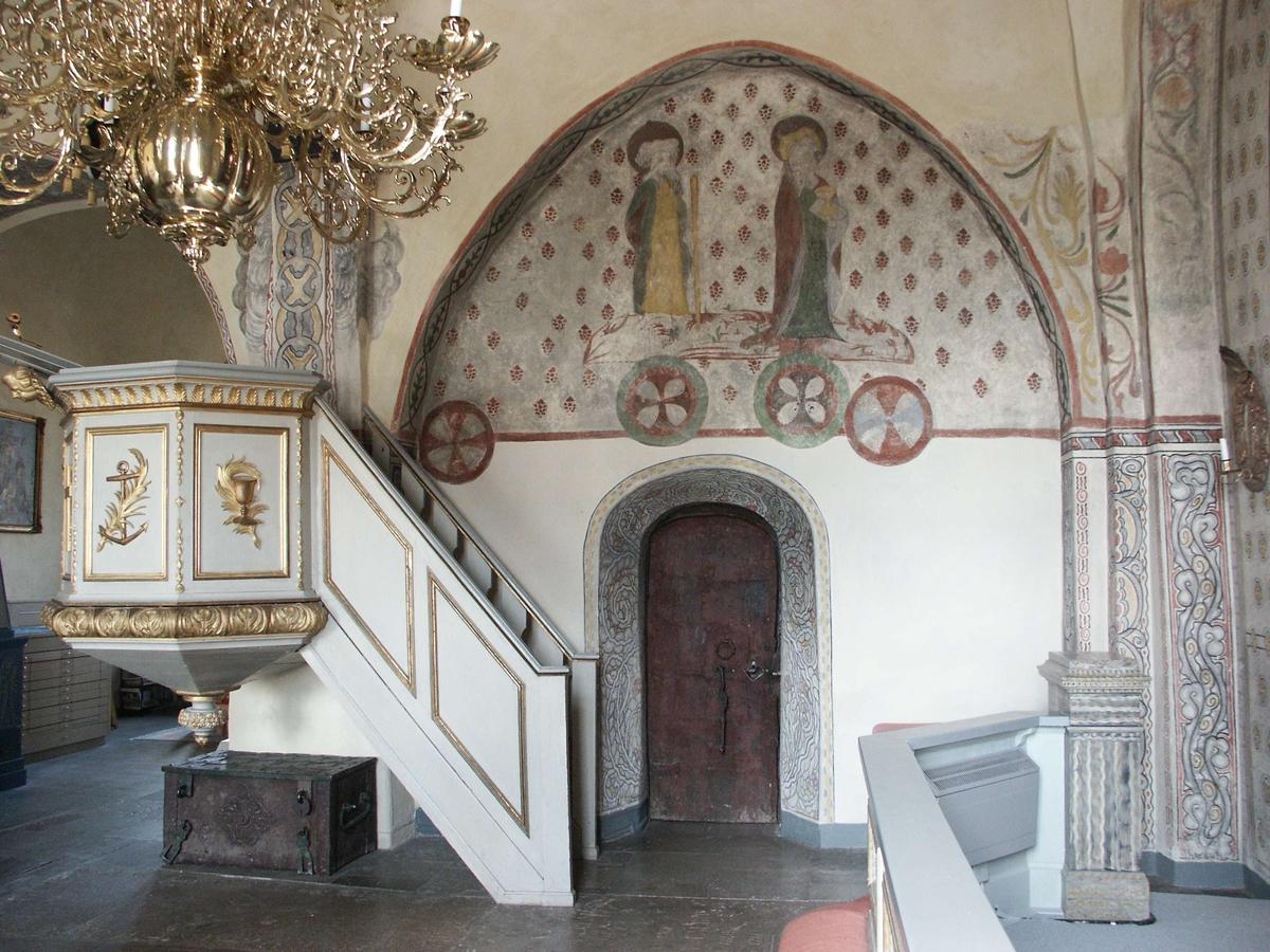 Interiör i Alsike kyrka, Alsike socken, Uppland