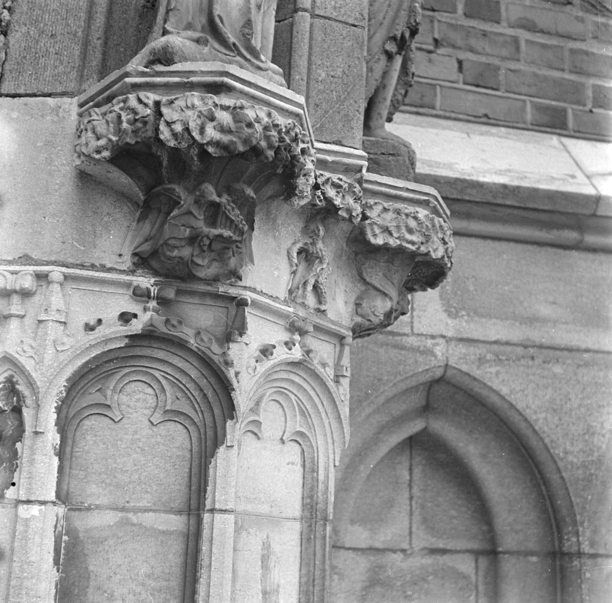 Detalj av norrportalen i Uppsala domkyrka, Uppsala