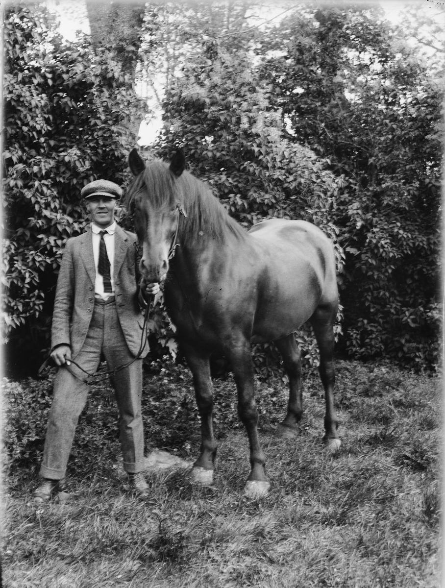 Man med häst, Uppland