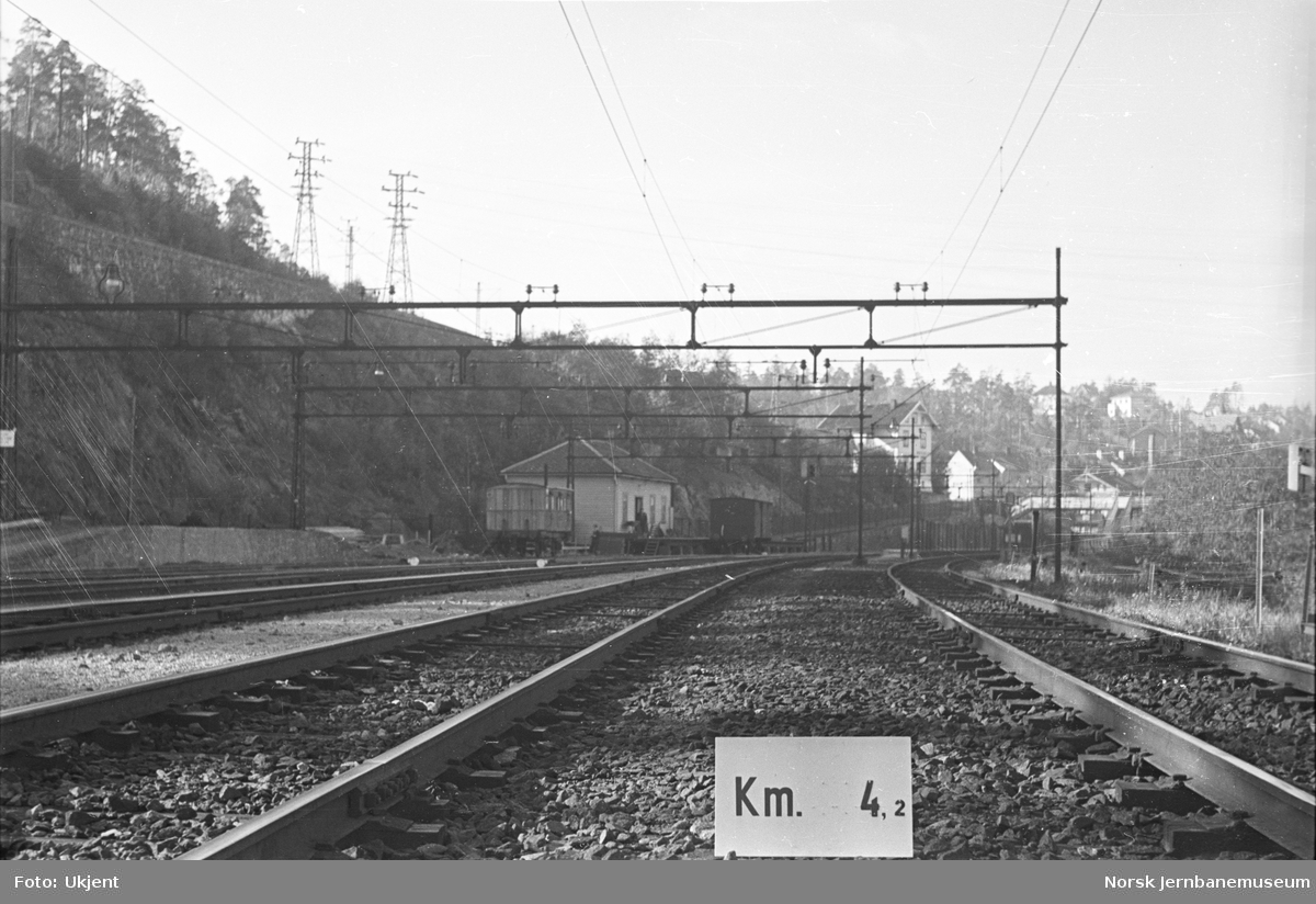 Hovedbanen : linjeføring km 4,2