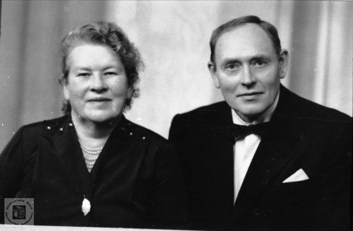 Portrett. Ekteparet Sigrid og Olav Fidjestøl.