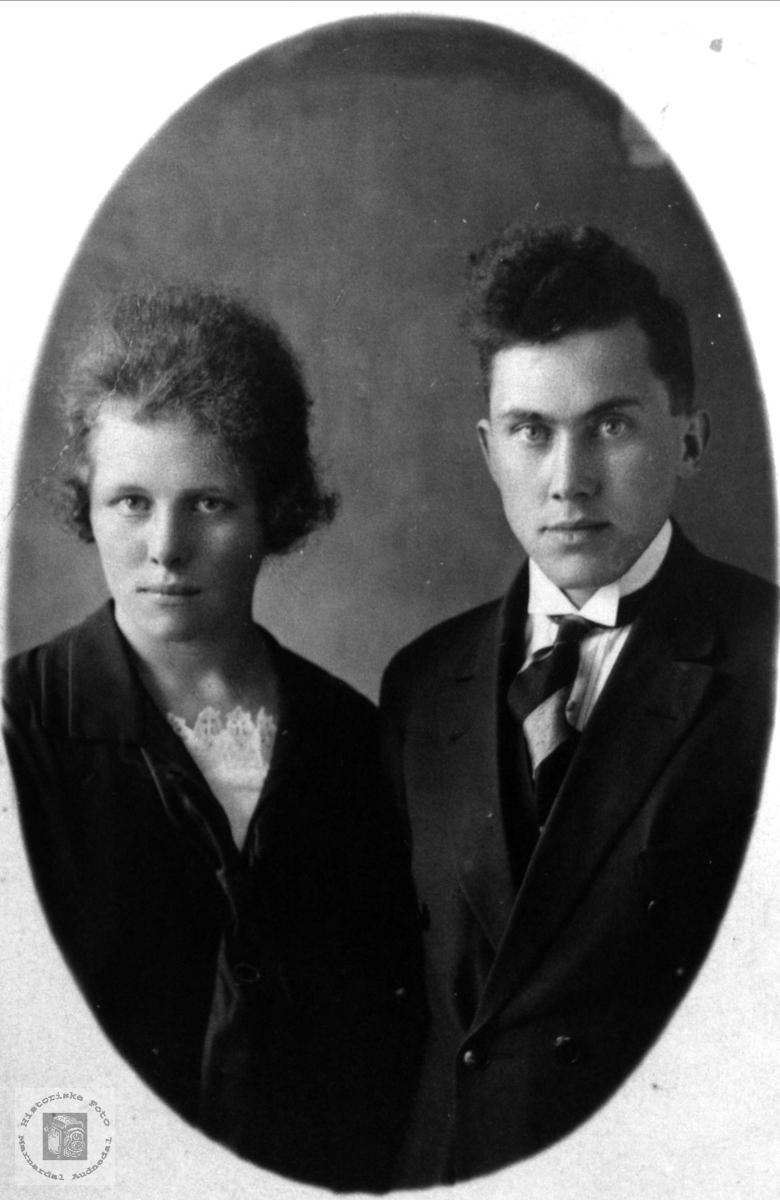 Ekteparet Gudrun og Knut Rødland, Øyslebø.