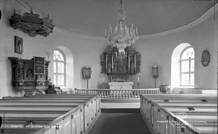 """Enligt AB Flygtrafik Bengtsfors: """"Grinneröds kyrka int. Bohuslän""""."""