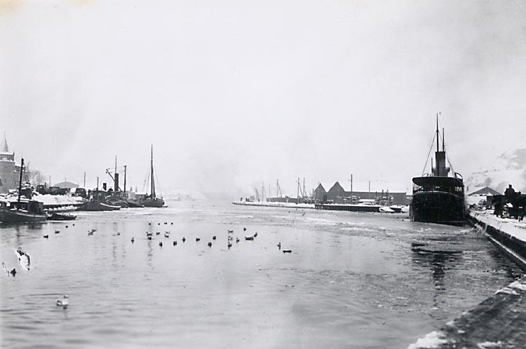 U-a. Hamnen från Ångbåtskajen. Kung Rane