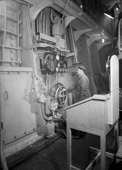 Interiör från maskinrum, 106 M/T Mai Bente.