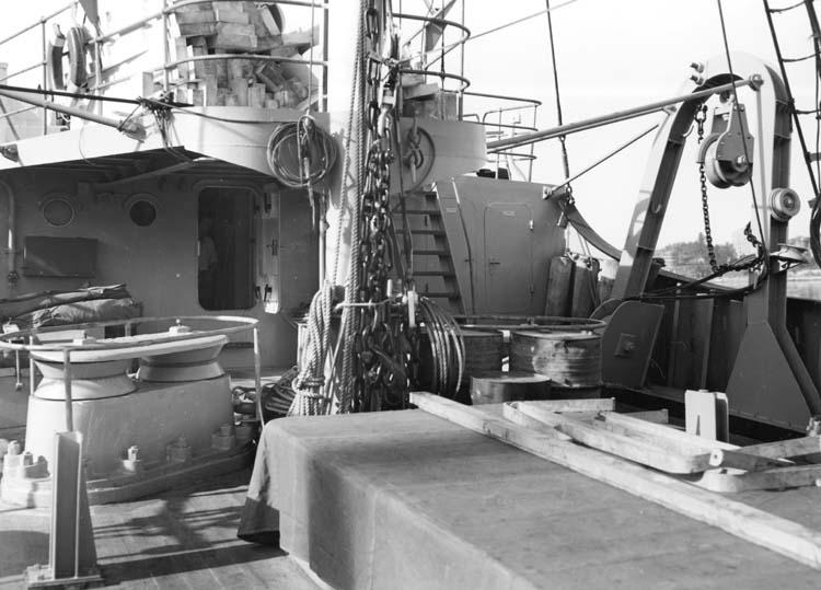 Fartygsdäck på något av fartygen 116-119.