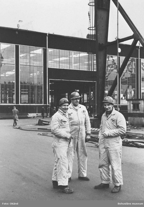 """Text till bilden: """"Stämmning på varvet efter en sjösättning ca 1959""""."""