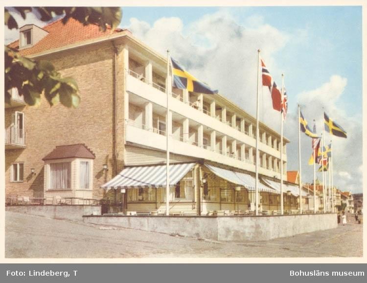 """Noterat på kortet: """"Hotell Marstrand Västkustens Pärla. Lämpligaste platsen för rekreation, kongresser o dyl."""""""