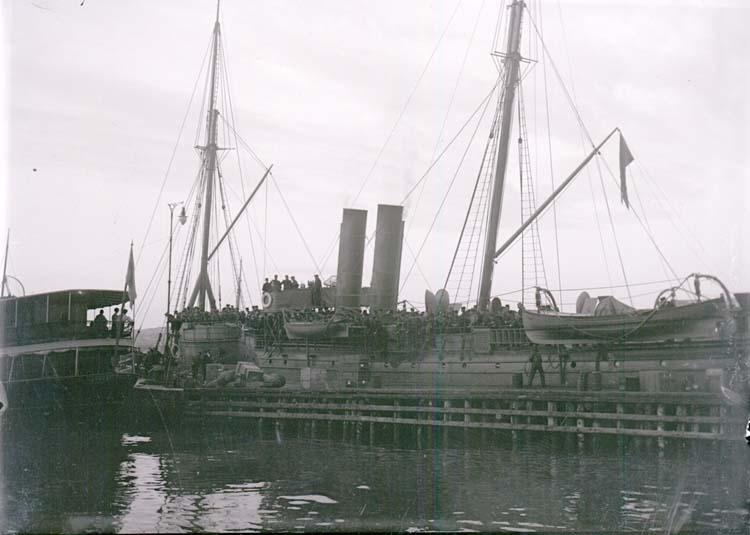 """Enligt text som medföljde bilden: """"Lysekil. Skäggald vid ångbåtsbryggan Juni 08""""."""