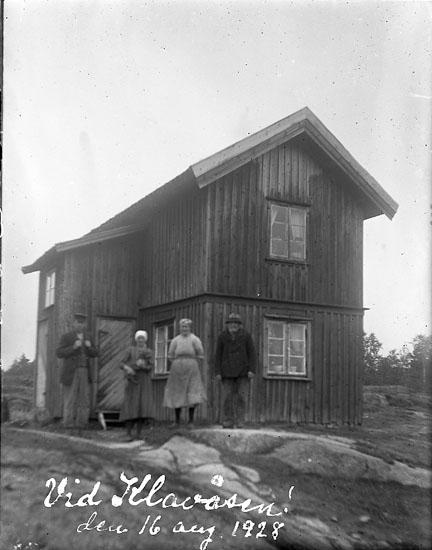 """Enligt text på fotot: """"Vid Klavåsen den 16 aug. 1928""""."""