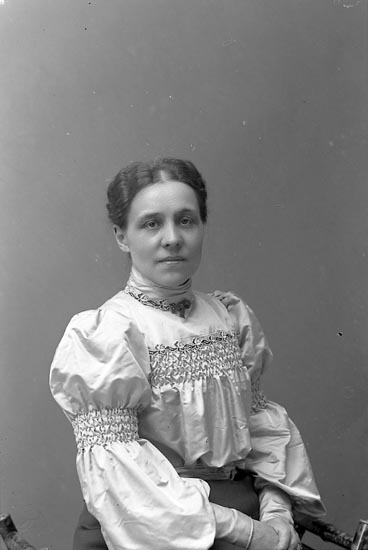 "Enligt fotografens journal nr 1 1904-1908: ""Tidholm, Doktorinnan Jörlanda""."