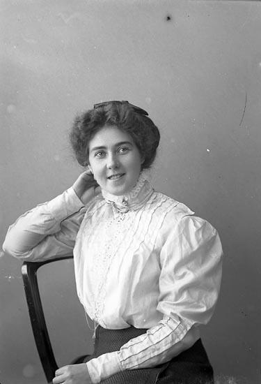 "Enligt fotografens journal nr 2 1909-1915: ""Kellberg, Fr. Signe Hoga Tjörn""."