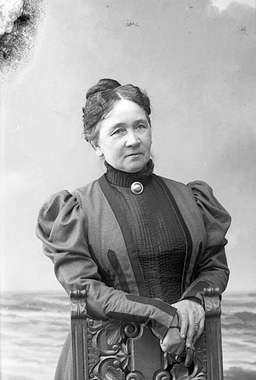 "Enligt fotografens journal nr 1 1904-1908: ""Stiberg, Fru Amanda Stenung Stenungsund""."