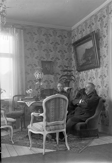 """Enligt fotografens notering: """"Herr o Fru Bäfverfeldt, Alingsås""""."""