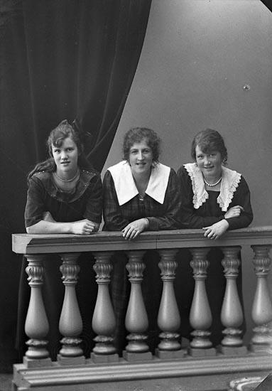 """Enligt fotografens journal nr 4 1918-1922: """"Andersson, Sigrid Telefon Här""""."""