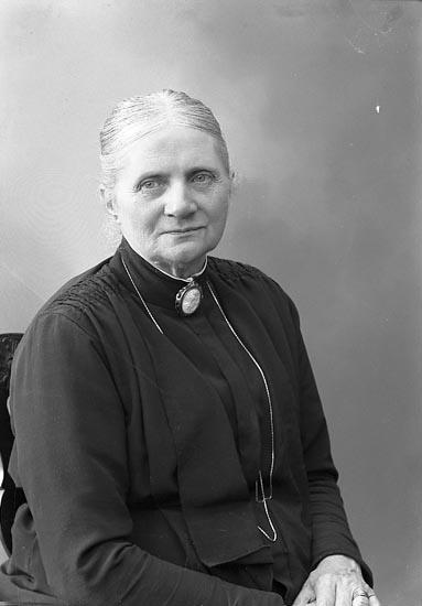 "Enligt fotografens journal nr 6 1930-1943: ""Arfwidsson, Fru Alma, Helgonabacken 9 Uddevalla""."