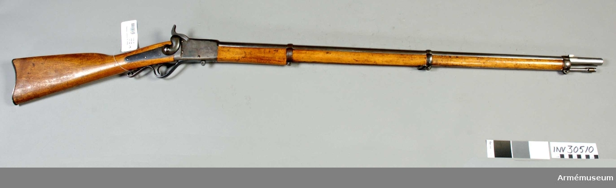 Grupp E II f. Infanterigevär från 1862 projekt enligt Peabody's system.