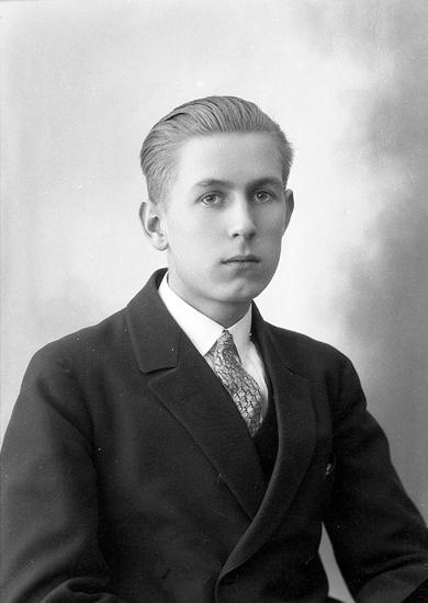 """Enligt fotografens journal nr 5 1923-1929: """"Josefsson-Willsjö, Herr Arne Björkliden Här""""."""