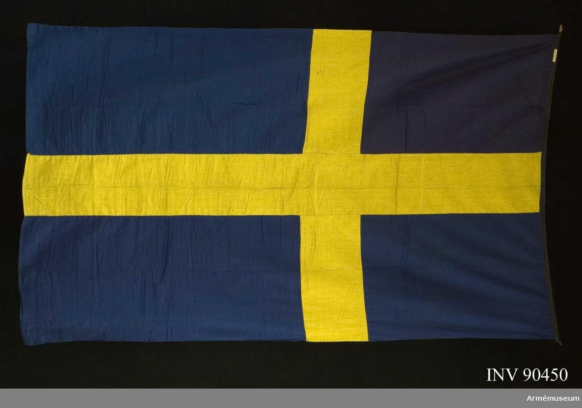 Övre inre hörnet förändrat från unionsflagga.