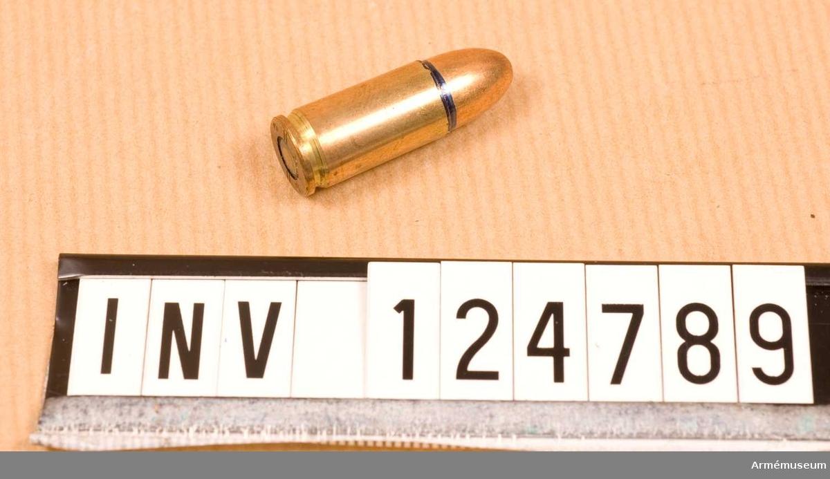 Lapp i påsen: 50 st 9 mm skarpa patroner m/39  VaB/308 028:89 V 12,5=325 Lngvikt=0.300 gr