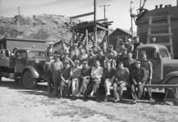 Personal vid Fridhems varv i Lyse 1952