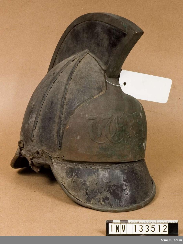 Kask för tullstatens beridna kustbevakning, 1820-tal.