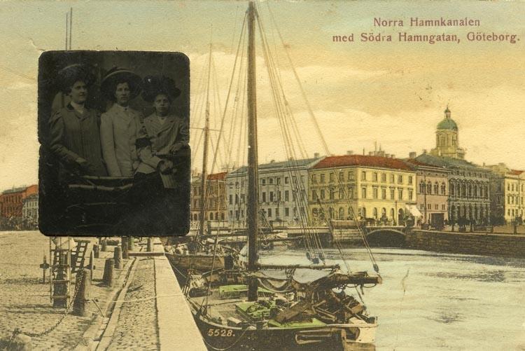 Notering på kortet: Norra Hamnkanalen med Södra Hamngatan, Göteborg.