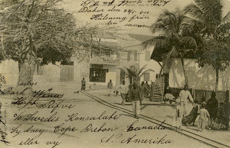 Notering på kortet: Senegal. Gorée Sur la Placa.