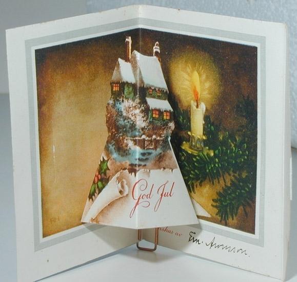 Kort: God Jul tillönskas av Fam. Aronsson.