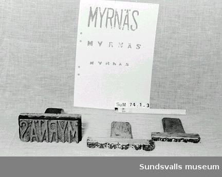 Skeppningsmärke för Myrnäs