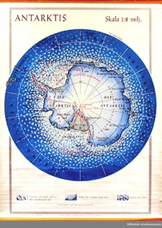 Skolkarta märkt nr 8.Antarktis.