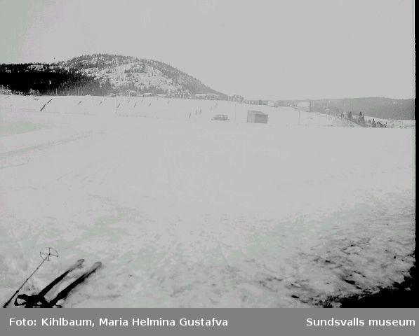 Vinterlandskap, skidor.