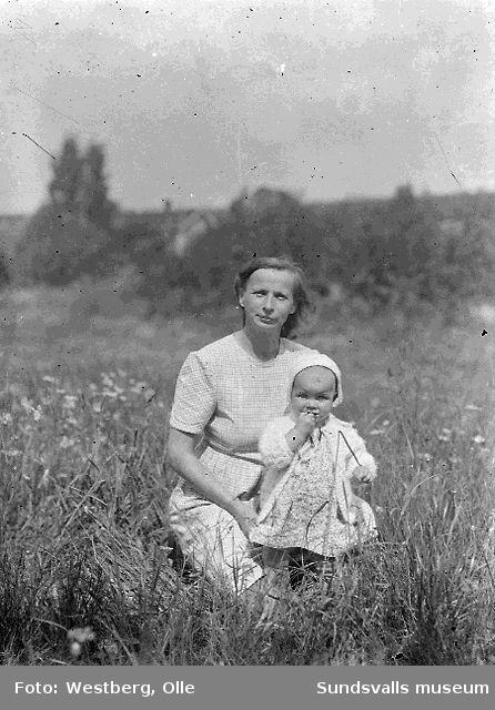 Linnea Westberg med dottern Britt-Marie.