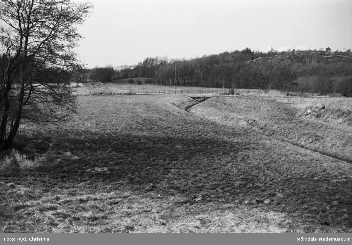 Fässbergsdalens norra del. Eklanda i Mölndal år 1991.