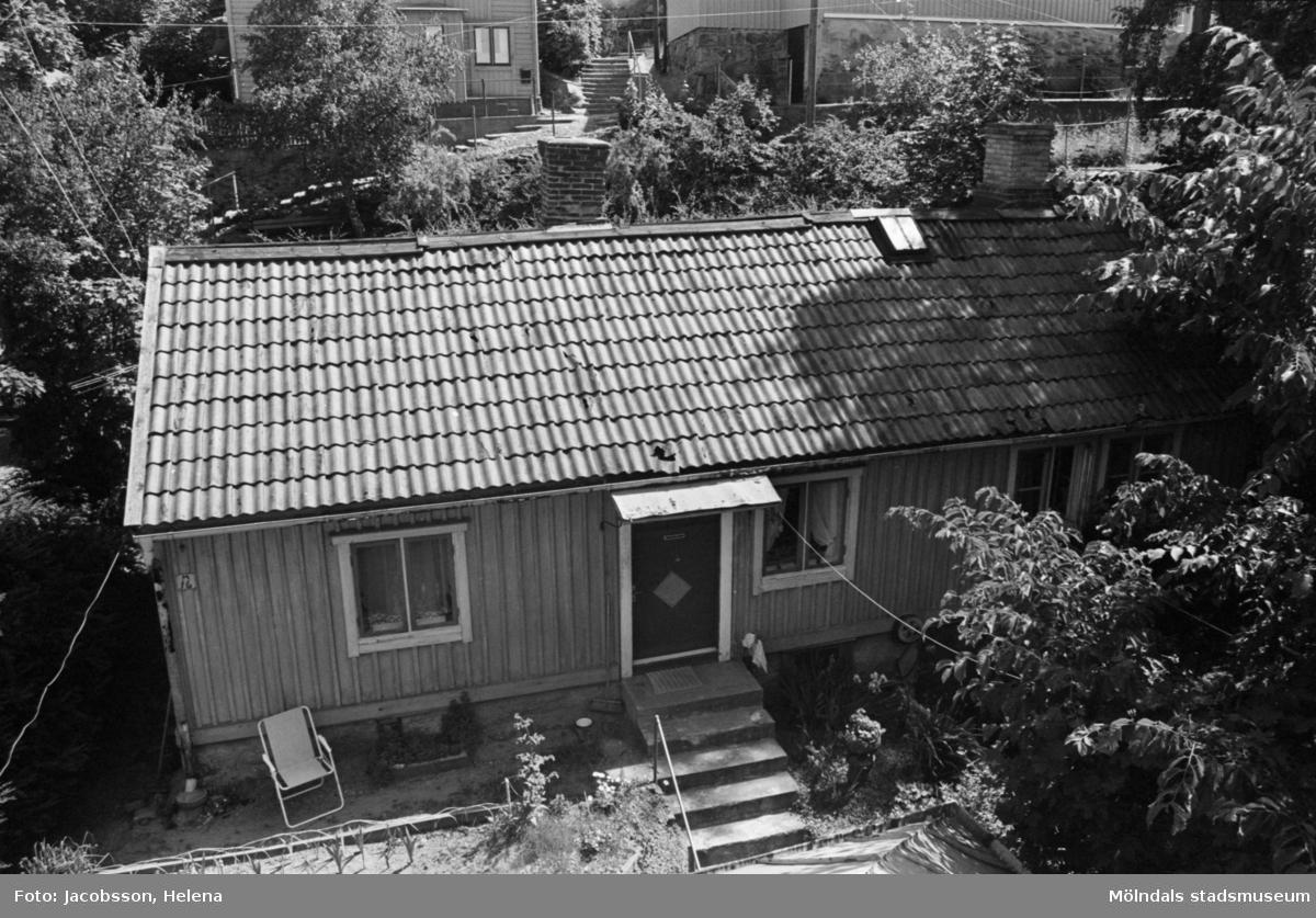Bostadshus Roten M 11-12, okänt årtal. Utsikt från vindsvåningen.