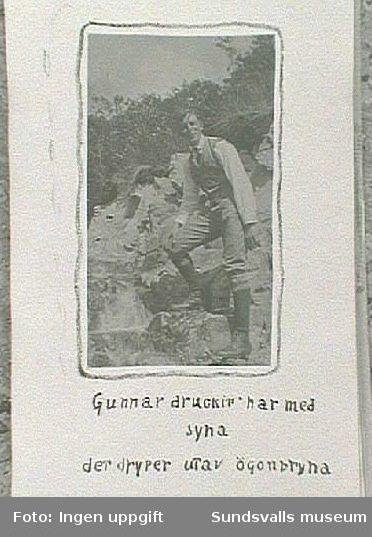 Porträtt av Gunnar Johansson. Från resa till Trondheim sommaren 1915.