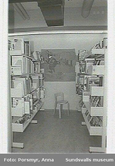Dokumentation av biblioteksfilialen i Ljustadalen.