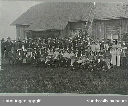 Midsommarvaka 1912, Blåbandsföreningen Liljan, Bergsåker.