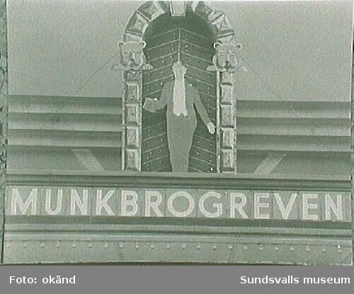 """""""Munkbrogreven"""", program på Svea-biografen."""