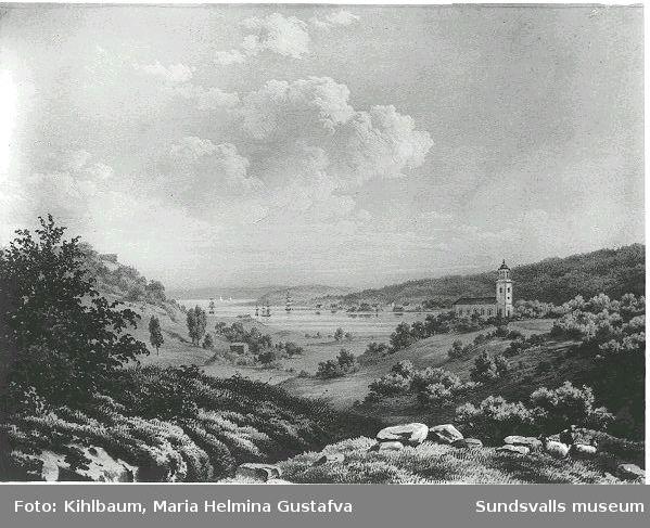 """Ur planschverket """"Sverige framstäldt i tavlor"""" 1856 Förlaga av C S Hallbeck."""