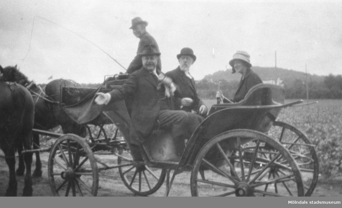 Herr Jönsson föreståndare på Skolhemmet Stretered, med fru. 1920-tal.