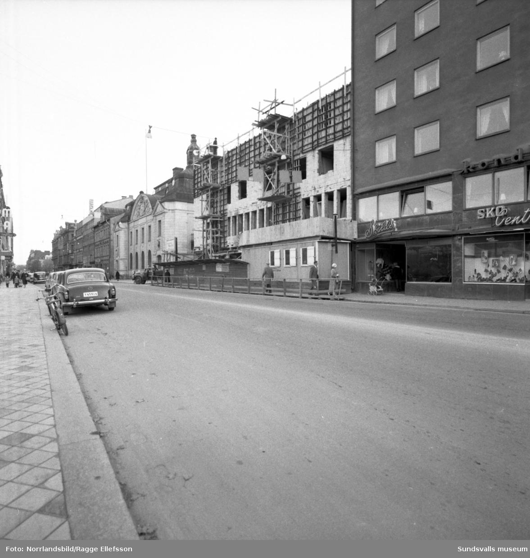 Storgatan 33 samt byggandet av Skandiahuset.