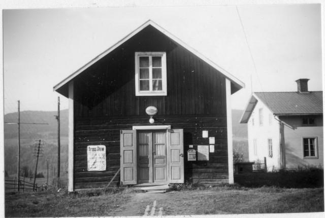 Lidensboda poststation, exteriör. Ragunda postområde, 1947.