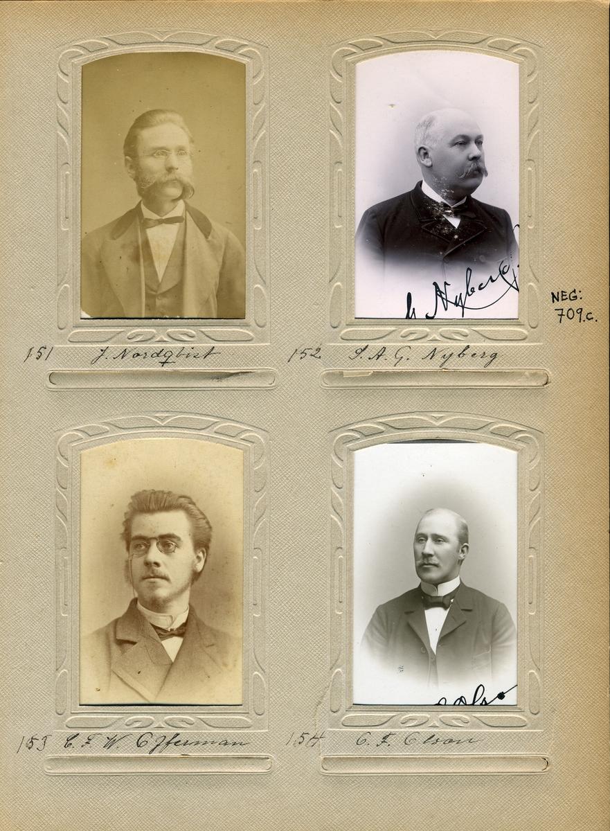 Porträtt av Sven Adolf Nyberg, postmästare i Gränna 1885-1893, i Skellefteå 1893-1906 samt i Hudiksvall 1906-1912.