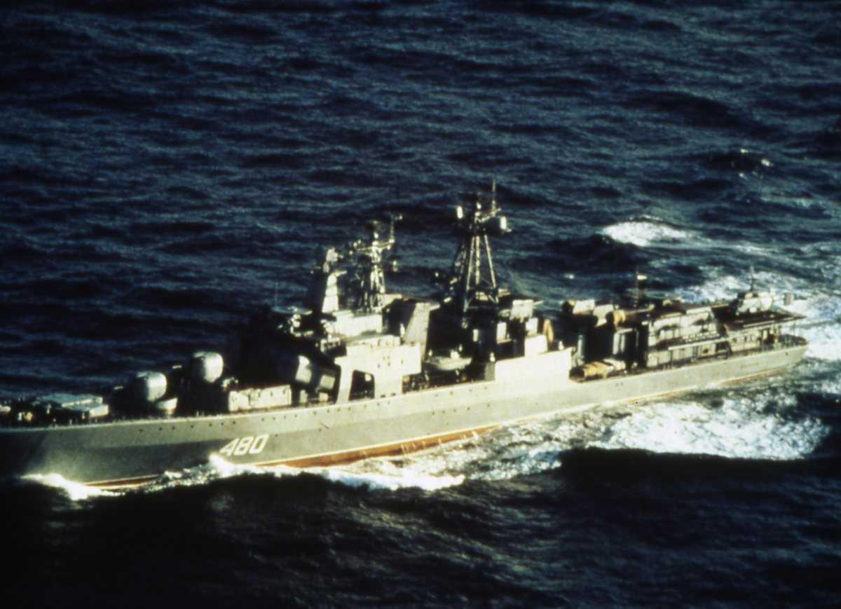Russisk fartøy av Udaloy - klassen med nr. 480.